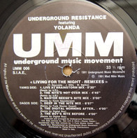 Underground Resistance Featuring Yolanda Reynolds - Living For The Night (Remixes)