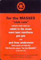 Rabbit In The Moon, Meat Beat Manifesto, a.o. - For The Masses - Club Cuts