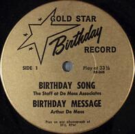 The Staff At De Moss Associates / Arthur De Moss / Nancy De Moss - Gold Star Birthday Record