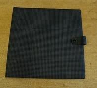 Vintage Schallplattenalbum - in blau-schwarzem Karomuster, für 11 LPs