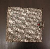 Vintage Schallplattenalbum - in grau, mit roten/grünen Punkten, für 20 Singles