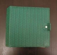Vintage Schallplattenalbum - in grün-schwarz gemustert, für 16 Singles