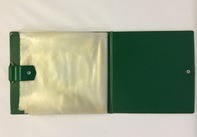 Vintage Schallplattenalbum - In grün, für 16 Singles