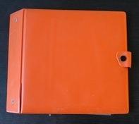 Vintage Schallplattenalbum - in orange, für 20 Singles