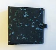 Vintage Schallplattenalbum - In schwarz, gemustert für 20 Singles