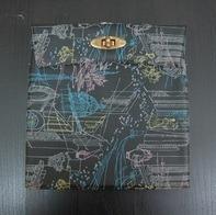 Vintage Schallplattenalbum - in schwarz, mit gezeichnetem Italien-Design, für 24 Singles