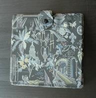 Vintage Schallplattenalbum - in schwarz, mit Sightseeing-Design, für 19 Singles
