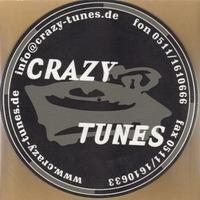 Slipmat - Crazy Tunes Aufdruck, 1 Stück in schwarz