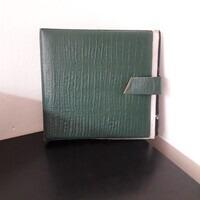 Vintage Schallplattenalbum - in grünem Smaragddesign, für 18 LPs