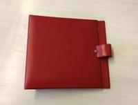Vintage Schallplattenalbum - in rot, für 16 Singles