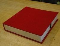 Vintage Schallplattenbox - in rot, für ca. 12 LPs