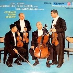 Albanberg.antonwebern juilliardstringquartet lyricsuite fivepiecesop.5 sixbagatellesop.9