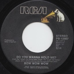 Do You Wanna Hold Me Bow Wow Wow 7inch Vinyl Recordsale