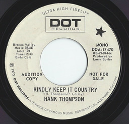 Hank thompson kindly keep it country 3
