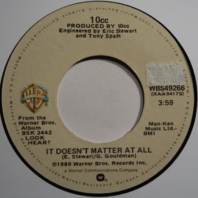 10cc - It Doesn't Matter At All
