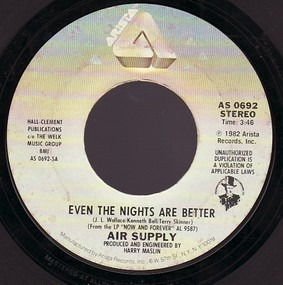 Air Supply - Even The Nights Are Better / One Step Closer