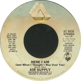 Air Supply - Here I Am (Just When I Thought I Was Over You)