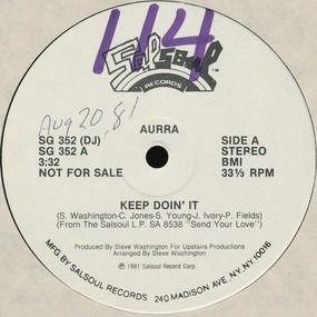 Aurra - Keep Doin' It / Nasty Disposition