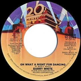 Barry White - It's Ecstasy When You Lay Down Next To Me / Oh What A Night For Dancing