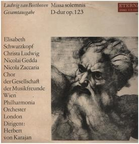 Ludwig Van Beethoven - Missa solemnis, D-dur,, Chor der Gesell. der Musikfreunde Wien, Philh. Orch. London, Karajan