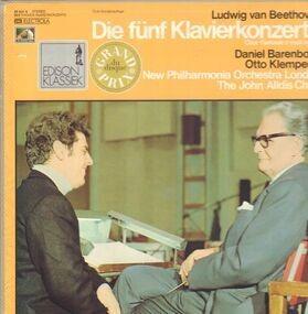 Ludwig Van Beethoven - Die fünf Klavierkonzerte,, Barenboim, Klemperer, New Philharmonia Orch. London