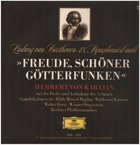 Ludwig Van Beethoven - IX. Symph d-moll, Karajan bei der Probe und Aufnahme des 4. Satzes