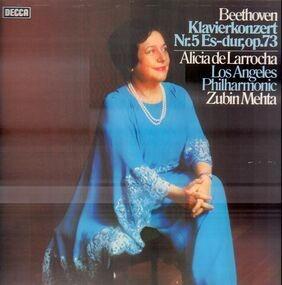 Ludwig Van Beethoven - Klavierkonzert Nr.5 Es-dur, op.73,, Alicia de Larrocha, LA Philh, Zubin Mehta