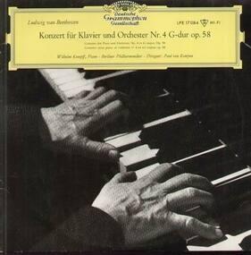 Ludwig Van Beethoven - Konzert für Klavier und Orchester Nr.4,, W.Kempff, Berliner Philh., P. van Kempen