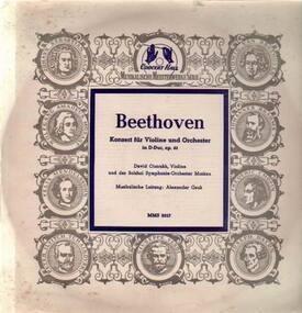 Ludwig Van Beethoven - Konzert für Violine und Orch in D-Dur,, D. Oistrakh, Violine und das Bolshoi Symph Orch Moskau, A.