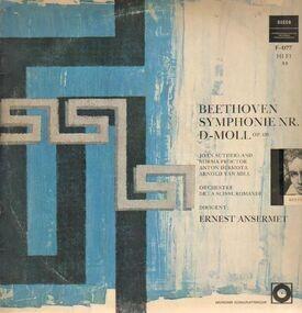 Ludwig Van Beethoven - Symphonie Nr. IX D-Moll,, Ansermet, Orch de la Suisse Romande