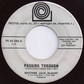 Jack McDuff - Passing Through / Somewhere In The Night