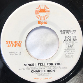Charlie Rich - Since I Fell For You