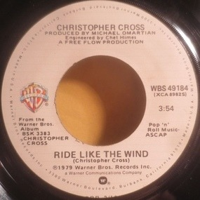 Christopher Cross - Ride Like The Wind / Minstrel Gigolo