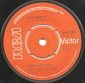 Elvis Presley - She's Not You / Just Tell Her Jim Said Hello