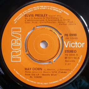 Elvis Presley - WAY DOWN