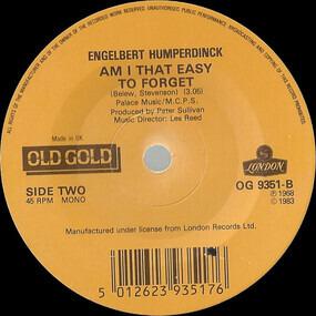 Engelbert Humperdinck - The Last Waltz / Am I That Easy To Forget