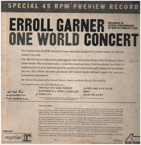Erroll Garner - One World Concert