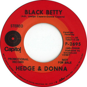 Hedge & Donna - Black Betty / Tomorrow Is The 1st Day ...