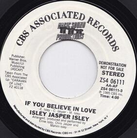 Isley/Jasper/Isley - If You Believe In Love