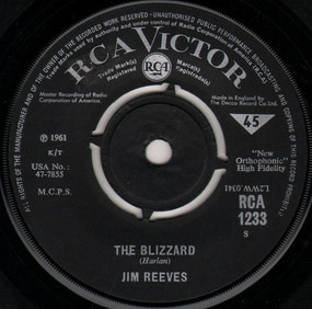 Jim Reeves - The Blizzard / Danny Boy