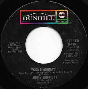 Jimmy Buffett - Come Monday