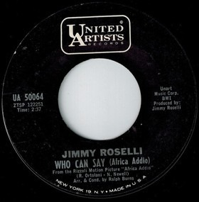 Buon Natale Jimmy Roselli.Who Can Say Africa Addio Jimmy Roselli 7inch Recordsale