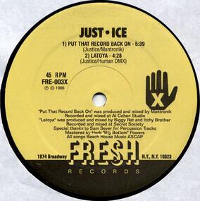 Just-Ice - Put That Record Back On / LaToya