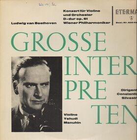 Ludwig Van Beethoven - Konzert für Violine und Orchester D-dur; Mehunin, Wiener Philh., C. Silvestri