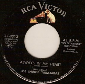 Los Índios Tabajaras - Always In My Heart / Moonlight And Shadows
