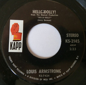 Louis Armstrong - Hello, Dolly! / That's All I Want The World To Remember Me By