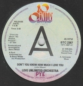 Barry White - Don't You Know How Much I Love You