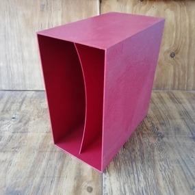LP-Box, 70er Jahre - in dunkelrot, für ca. 40 LPs