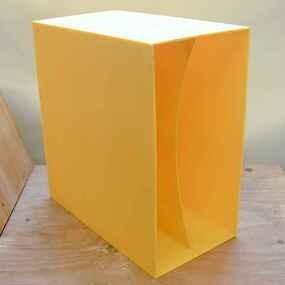 LP-Box, 70er Jahre - in gelb, für ca. 40 LPs