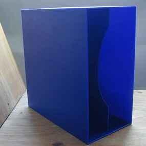 LP-Box, 70er Jahre - in marineblau, für ca. 40 LPs